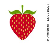 strawberry icon   strawberry ... | Shutterstock .eps vector #1277910277