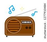 radio icon  radio isolate ... | Shutterstock .eps vector #1277910484