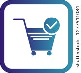 vector verified cart items icon  | Shutterstock .eps vector #1277911084