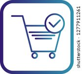 vector verified cart items icon  | Shutterstock .eps vector #1277911261