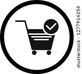 vector verified cart items icon  | Shutterstock .eps vector #1277914354