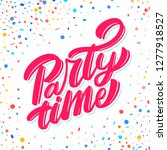 party time banner. vector... | Shutterstock .eps vector #1277918527