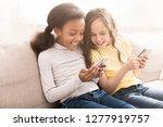 happy little friends with... | Shutterstock . vector #1277919757