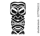 ritual aztec idol icon. simple... | Shutterstock . vector #1277926111