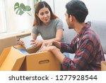 asian married couple start new...   Shutterstock . vector #1277928544