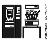 supermarket vending icon.... | Shutterstock . vector #1277930974