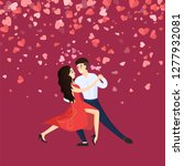 dancers man and woman ... | Shutterstock .eps vector #1277932081