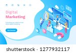 digital marketing people... | Shutterstock .eps vector #1277932117
