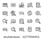 search icons. photo indexation  ... | Shutterstock .eps vector #1277934451