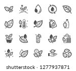 plants icons. mint leaf ... | Shutterstock .eps vector #1277937871