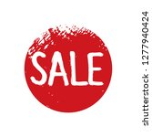 text sale and red  grunge stamp.... | Shutterstock .eps vector #1277940424