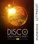 disco party flyer templatr with ...   Shutterstock .eps vector #1277943157