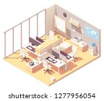 vector isometric corporate... | Shutterstock .eps vector #1277956054