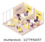 vector isometric customer... | Shutterstock .eps vector #1277956057