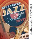 jazz party poster | Shutterstock .eps vector #127795871