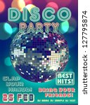 Stock vector disco party poster 127795874