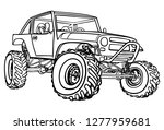 off road car hand drawn sketch... | Shutterstock .eps vector #1277959681
