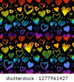 Neon Seamless Pattern With Hand ...