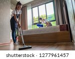 professional cleaning service... | Shutterstock . vector #1277961457