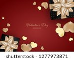 valentine's day background with ... | Shutterstock .eps vector #1277973871