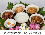 kao chae  cooked rice soaked in ... | Shutterstock . vector #1277974591