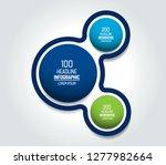 circle  round chart  scheme ... | Shutterstock .eps vector #1277982664