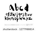 vector fonts   handwritten... | Shutterstock .eps vector #1277988814