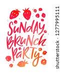 creative poster for sunday... | Shutterstock .eps vector #1277995111