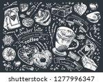 lavender latte illustration ... | Shutterstock .eps vector #1277996347