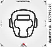 boxing icon  equipment and... | Shutterstock .eps vector #1277998084