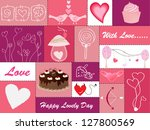 set of hearts and love icons | Shutterstock .eps vector #127800569