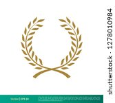 gold laurel wreath decorative... | Shutterstock .eps vector #1278010984