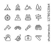 camping activities line icon... | Shutterstock .eps vector #1278012064