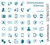 communication service icons | Shutterstock .eps vector #1278017257