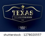 texas logo concept with state... | Shutterstock .eps vector #1278020557