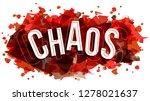 chaos word vector  creative... | Shutterstock .eps vector #1278021637