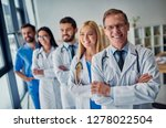 group of doctors working... | Shutterstock . vector #1278022504