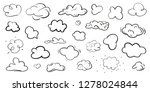 clouds on isolation background. ... | Shutterstock .eps vector #1278024844