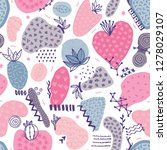 vector seamless pattern with...   Shutterstock .eps vector #1278029107