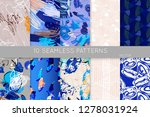collection of seamless patterns.... | Shutterstock .eps vector #1278031924