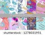 collection of seamless patterns.... | Shutterstock .eps vector #1278031951