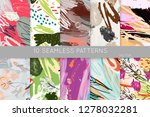 collection of seamless patterns.... | Shutterstock .eps vector #1278032281