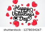 happy valentine's day... | Shutterstock .eps vector #1278034267