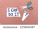 cutting the word in paper note...   Shutterstock . vector #1278044287