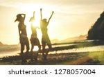 blurred defocused silhouette of ... | Shutterstock . vector #1278057004