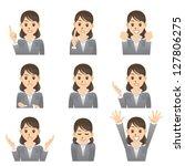 business woman | Shutterstock .eps vector #127806275