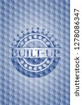built up blue hexagon badge. | Shutterstock .eps vector #1278086347
