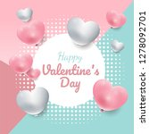 valentine's day sweet color... | Shutterstock .eps vector #1278092701