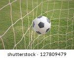 goal. a soccer ball in a net. | Shutterstock . vector #127809479