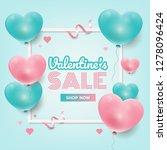 valentine s sale promotion...   Shutterstock .eps vector #1278096424